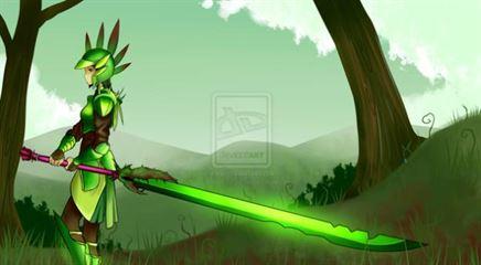 травяной меч арт