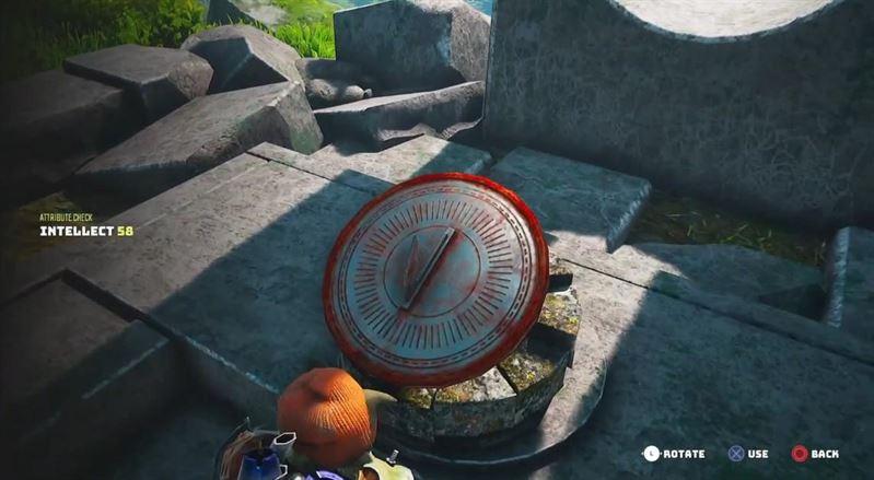 Расположение солнечных часов Biomutant