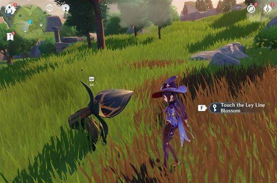Игрок, использующий оригинальную смолу на обнажении силовой линии - цветение богатства (изображение через Sportskeeda)