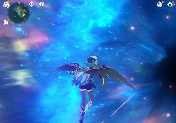 Пройдя через портал, вы попадете на Маск-Риф в Genshin Impact (Изображение через Sportskeeda)