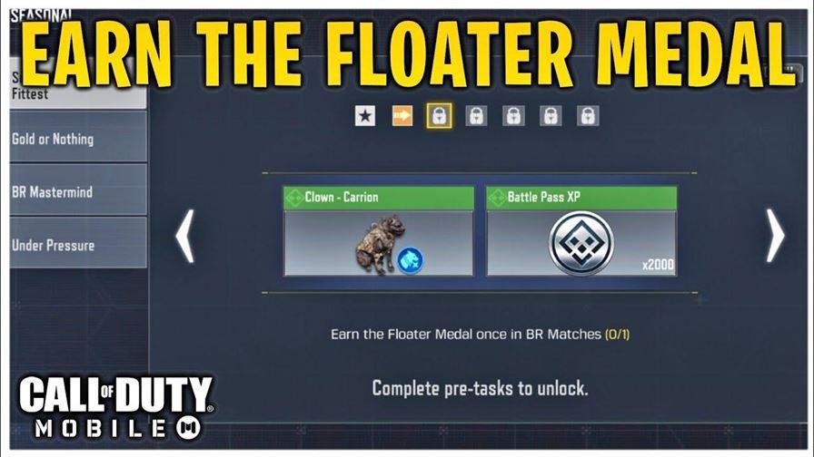 CODM! Заработайте медаль Floater один раз в матчах BR! Новое сезонное событие «Выживание сильнейших» в CODM! - YouTube