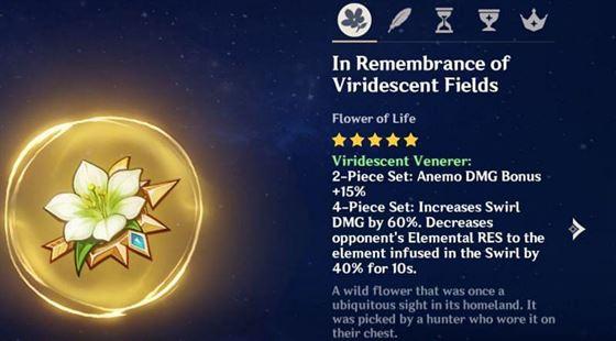 Бонус от комплекта Viridescent Venerer (изображение через Genshin Impact)