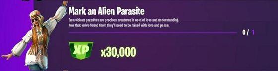 «Отметить инопланетного паразита» Эпическое испытание Fortnite, неделя 11 (Изображение с iFireMonkey)