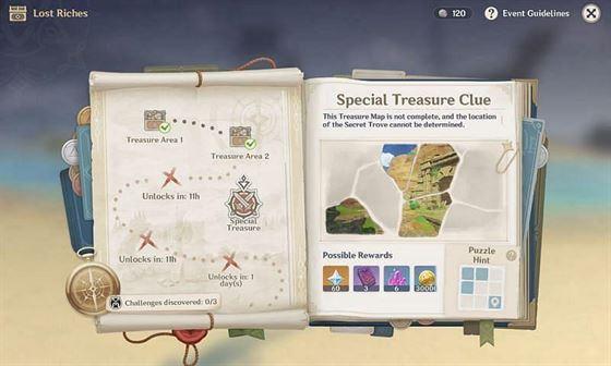Подсказка к загадке в Special Treasure Clue в Genshin Impact (Изображение через Sportskeeda)